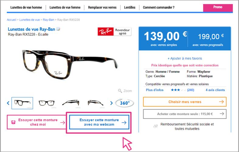 essayer lunettes de vue en ligne