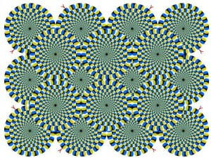 Illusion d'optique qui tourne