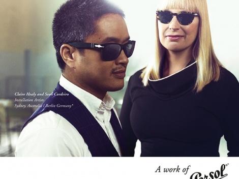 Publicité de la marque de lunettes de soleil Persol