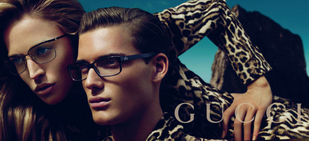 Publicité pour lunettes Gucci