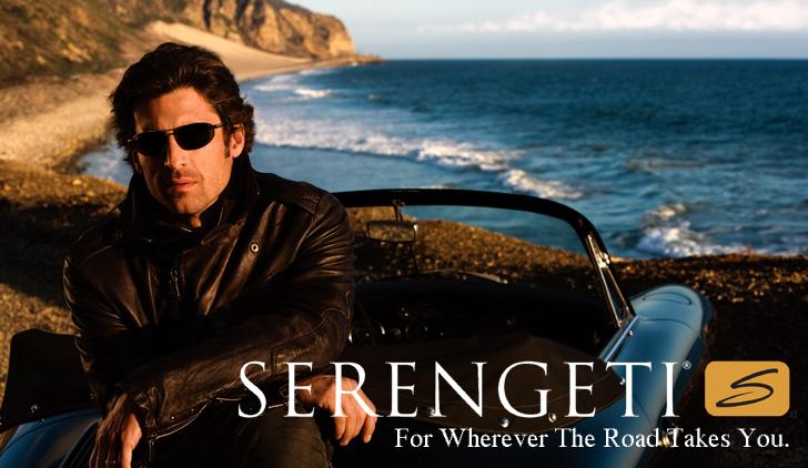 Publicité pour les lunettes Serengeti