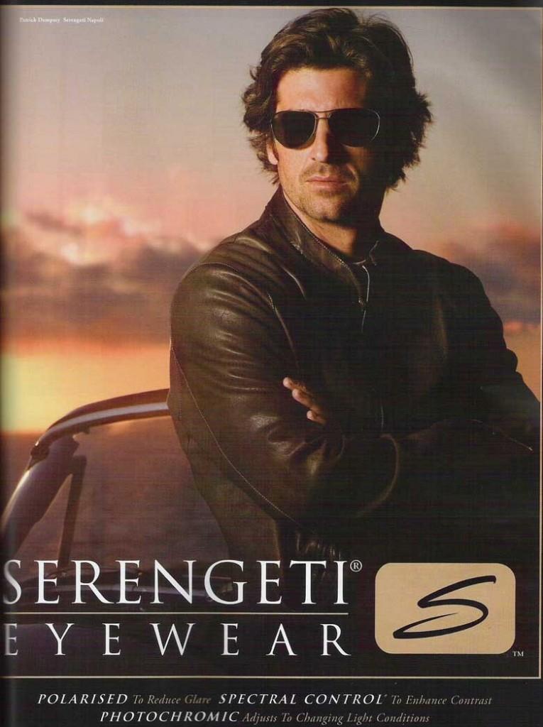 Publicité Serengeti avec Patrick Dempsey