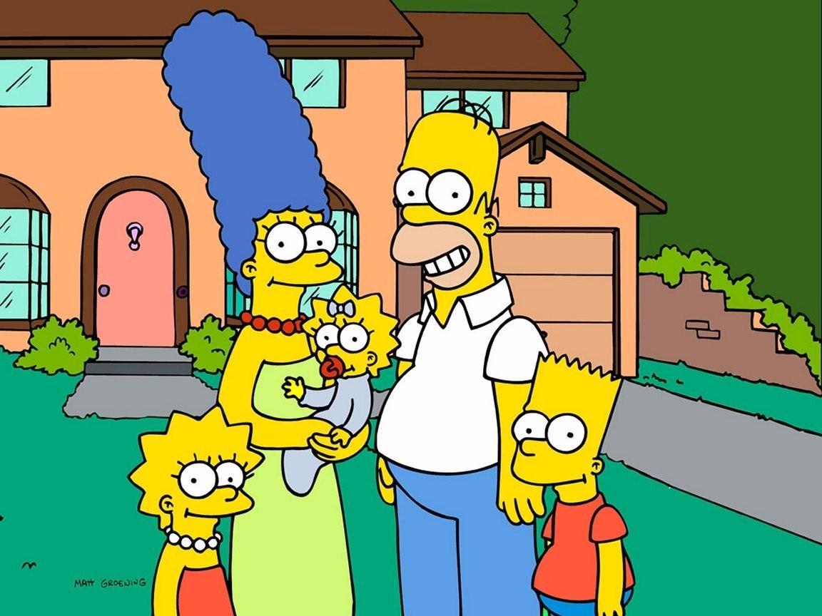 La famille des simpsons au complet