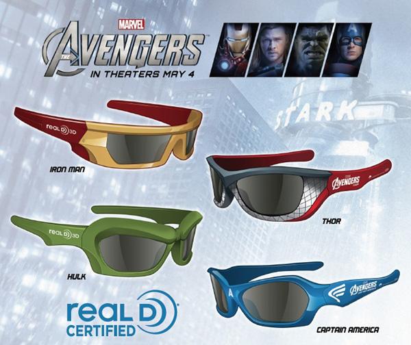 Lunettes 3D The Avengers