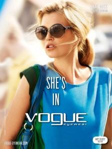 Kate Moss et ses lunettes Vogue