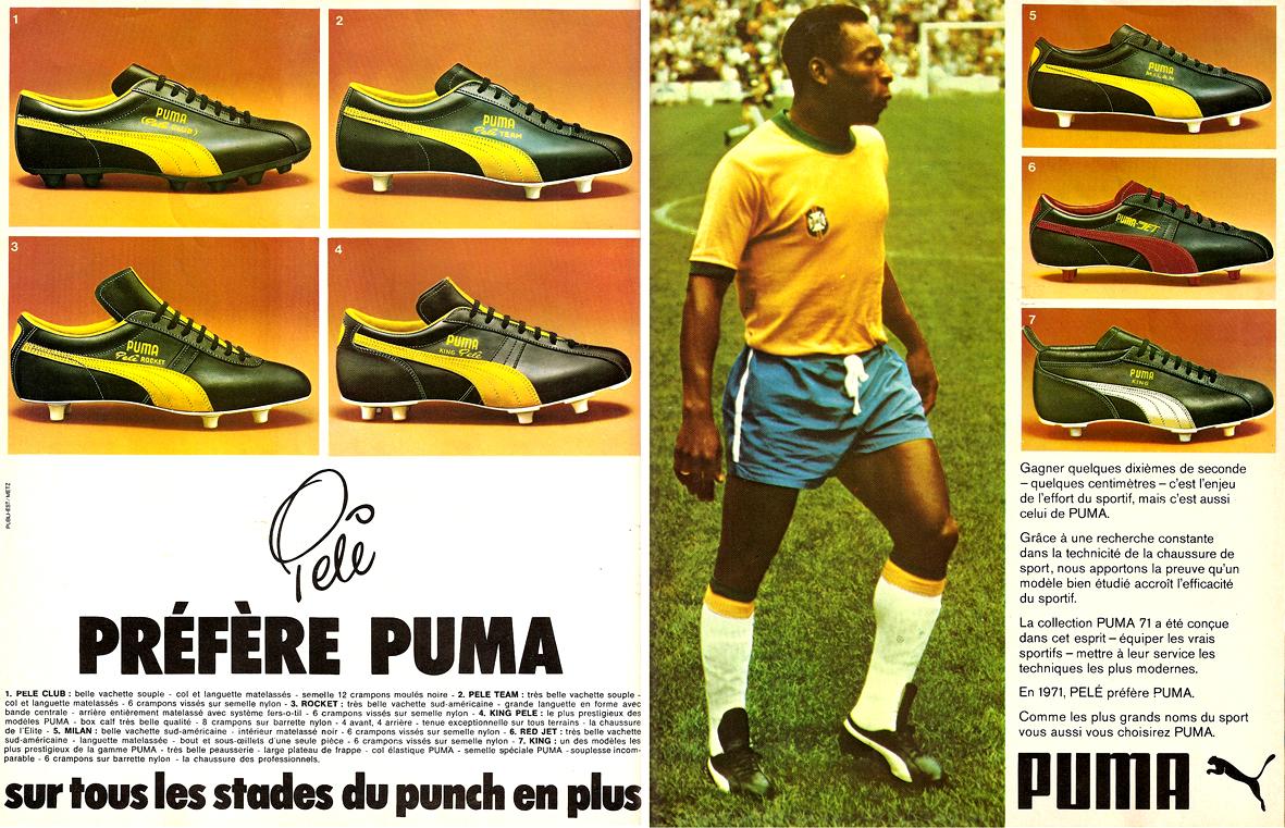 Pelé pour la marque Puma