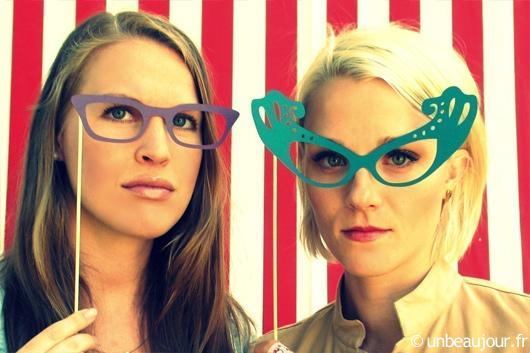 lunettes en carton pour photobooth