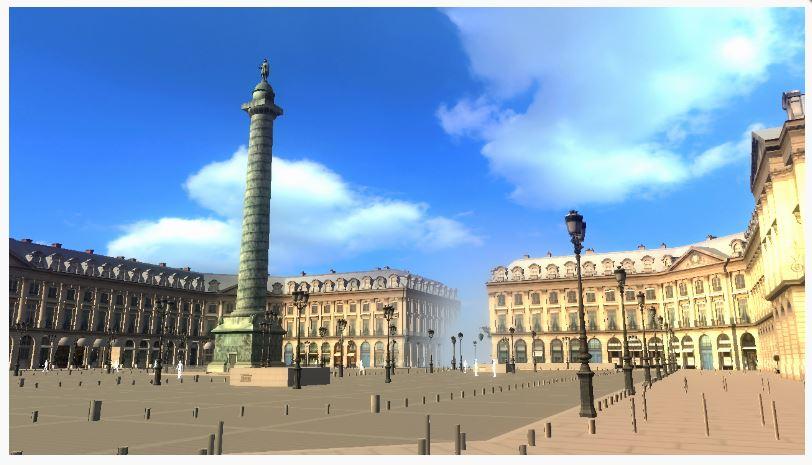 La place Vendôme vue par l'homme.