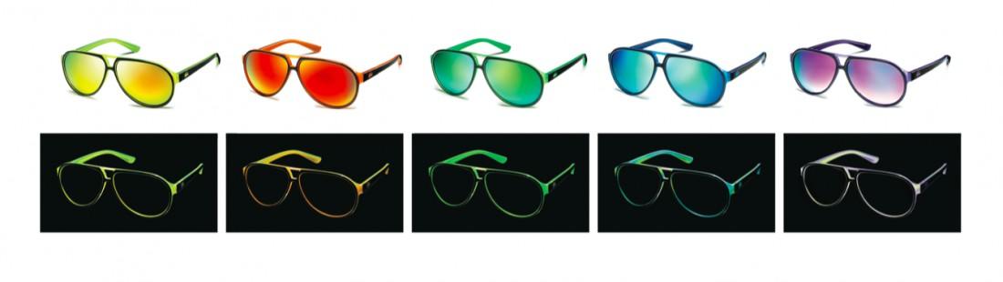 lunettes solaires flourescentes lacoste